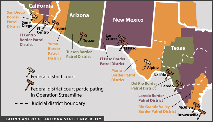 Map Of Us Mexico Border Crossings.Program Prosecutes Illegal Immigrants Before Deporting Them Latino